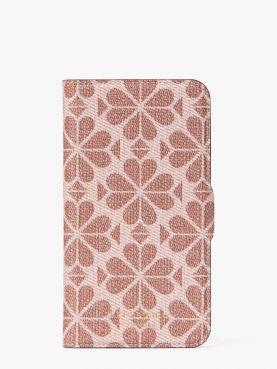 iphone cases spade flower pvc folio 11pro