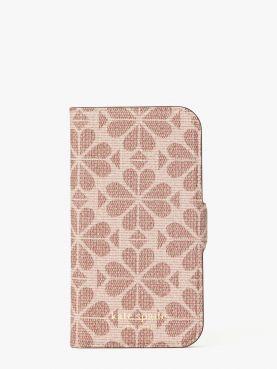 iphone cases spade flower folio 12 mini