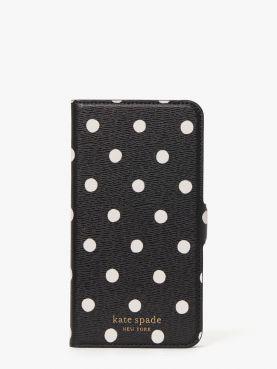 sunshine dot iphone 12/12 pro magnetic wrap folio case