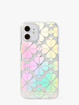 spade flower iridescent 12/12 pro phone case