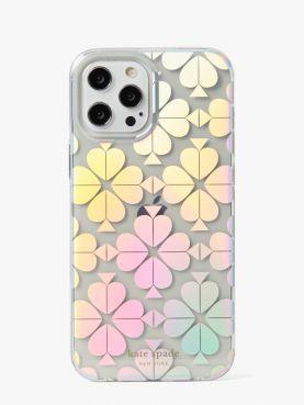 spade flower iridescent 12/12 promax phone case
