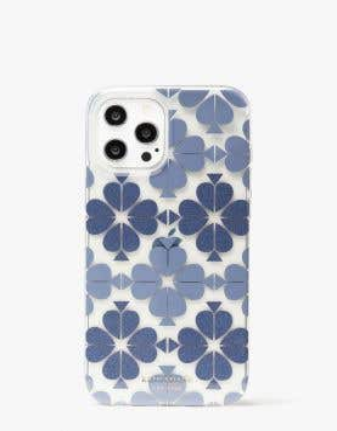 tonal spade flower iphone 12 pro max case