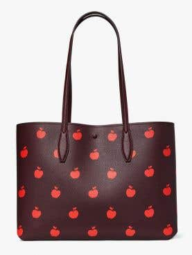 all day apple toss large tote