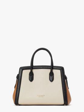 knott colorblocked medium satchel