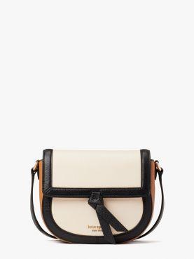 knott colorblocked medium saddle bag