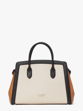 knott colorblocked large satchel