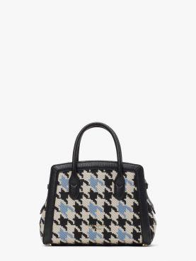 knott houndstooth mini satchel