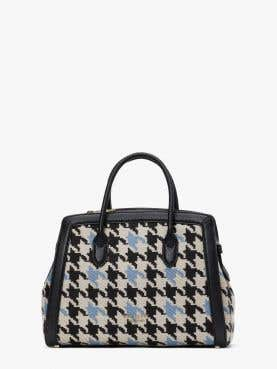 knott houndstooth medium satchel
