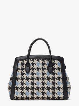 knott houndstooth large satchel