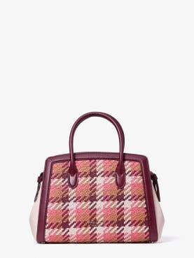 knott woven medium satchel
