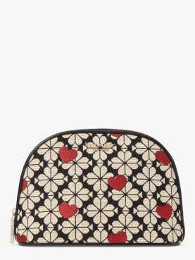 spade flower jacquard large dome cosmetic