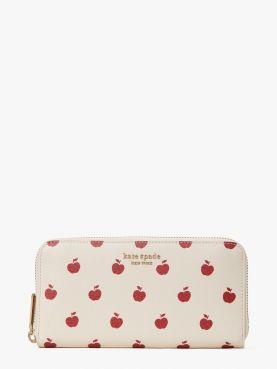 spencer apple toss zip around continental wallet