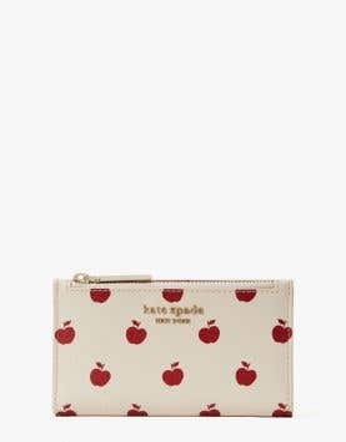 spencer apple toss small slim bifold wallet