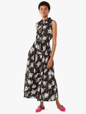 floral clusters shirtdress