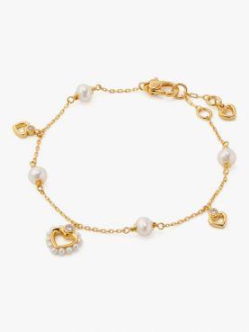 shining spade pearl line bracelet