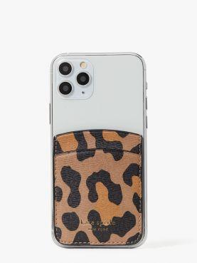 spencer leopard sticker pocket