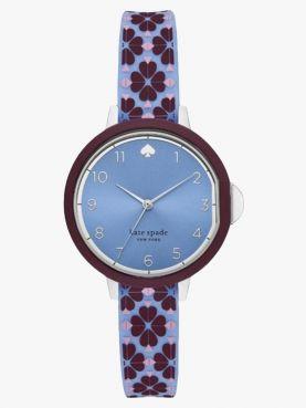 watches park row purple round dial quartz