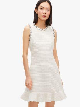 flora tweed dress