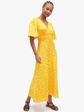 dainty bloom satin dress