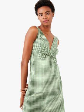 mini gingham bow dress
