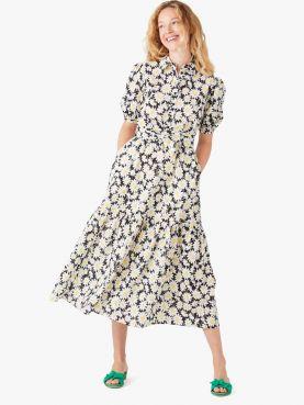 kate daisy textured shirtdress