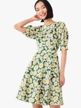 kate daisy puff-sleeve dress