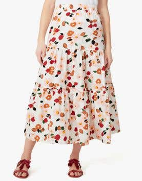 botanical garden ruffle skirt