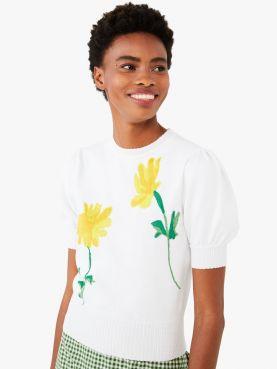 garden daisy sweater