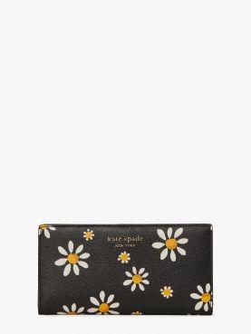 spencer daisy dots slim bifold wallet