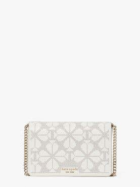spencer perforated chain wallet