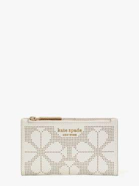 spencer perforated small slim bifold wallet