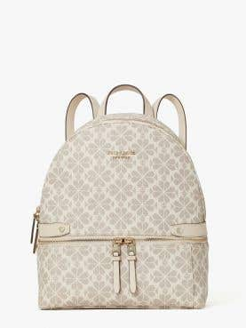 day pack spade flower coated canvas medium backpack