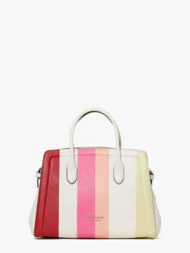 knott stripe medium satchel