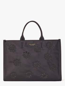 sam the little better embroidered nylon large tote