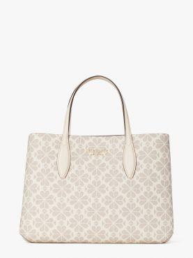 all day spade flower coated ca medium satchel