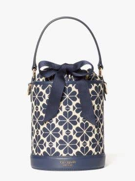 picnic spade flower jacquard small bucket bag