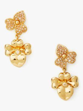 precious pansy pave drop earrings